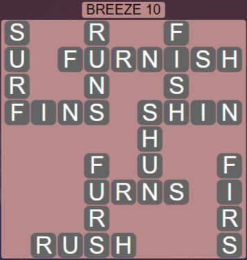 Wordscapes Tide Breeze 10 - Level 2458 Answers