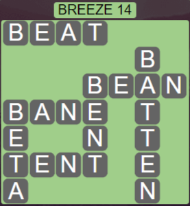 Wordscapes Tide Breeze 14 - Level 2462 Answers