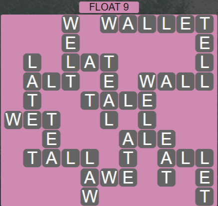 Wordscapes Tide Float 9 - Level 2473 Answers