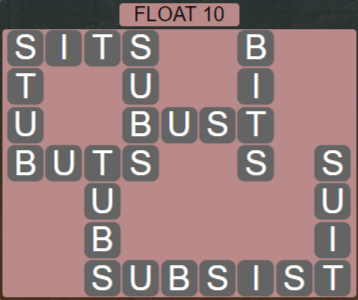 Wordscapes Tide Float 10 - Level 2474 Answers