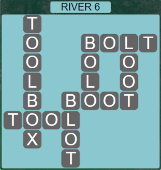 Wordscapes Level 2486 Passage River 6 Answers
