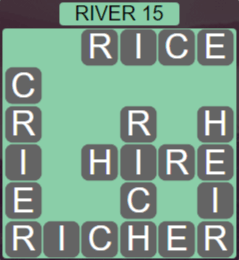 Wordscapes Level 2495 Passage River 15 Answers