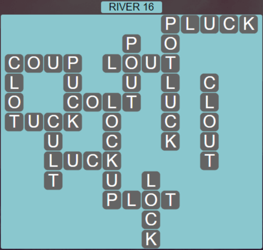 Wordscapes Level 2496 Passage River 16 Answers
