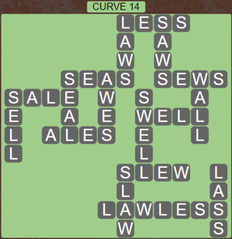 Wordscapes Passage Curve 14 – Level 2510 Answers