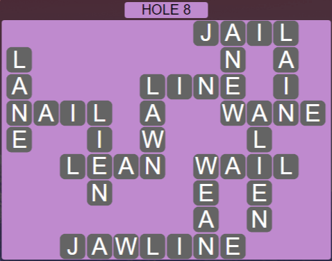 Wordscapes Passage Hole 8 - Level 2520 Answers