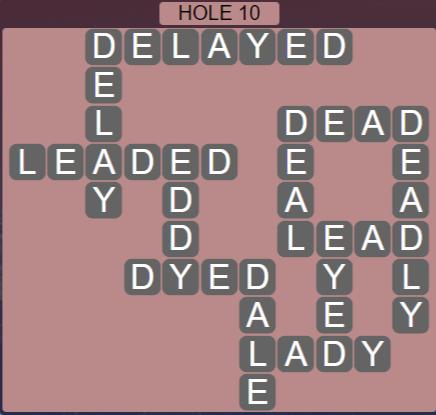 Wordscapes Passage Hole 10 - Level 2522 Answers