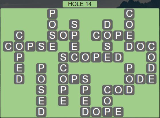 Wordscapes Passage Hole 14 - Level 2526 Answers