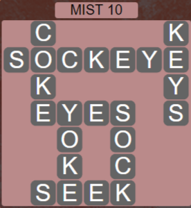 Wordscapes Passage Mist 10 - Level 2538 Answers