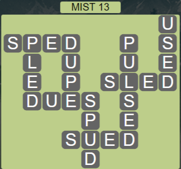 Wordscapes Passage Mist 13 - Level 2541 Answers