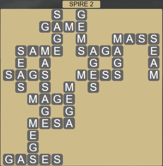 Wordscapes Passage Spire 2 - Level 2546 Answers