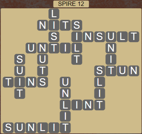 Wordscapes Passage Spire 12 - Level 2556 Answers