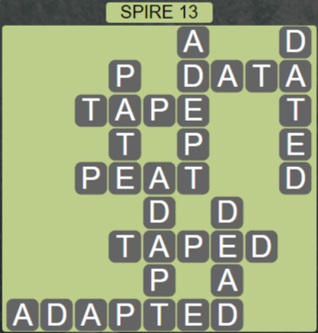 Wordscapes Passage Spire 13 - Level 2557 Answers