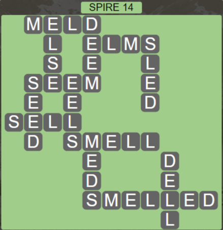 Wordscapes Passage Spire 14 - Level 2558 Answers