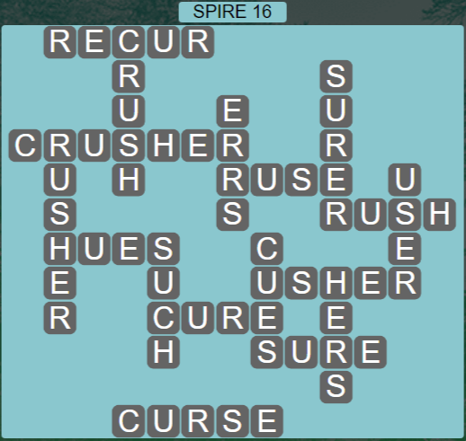 Wordscapes Passage Spire 16 - Level 2560 Answers
