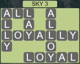 Wordscapes Air Sky 3 - Level 2579 Answers