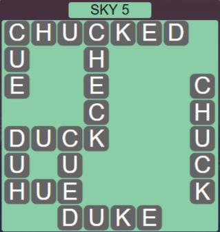 Wordscapes Air Sky 5 - Level 2581 Answers