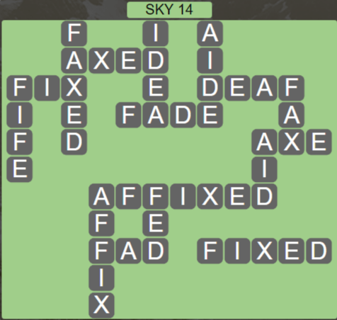 Wordscapes Air Sky 14 - Level 2590 Answers
