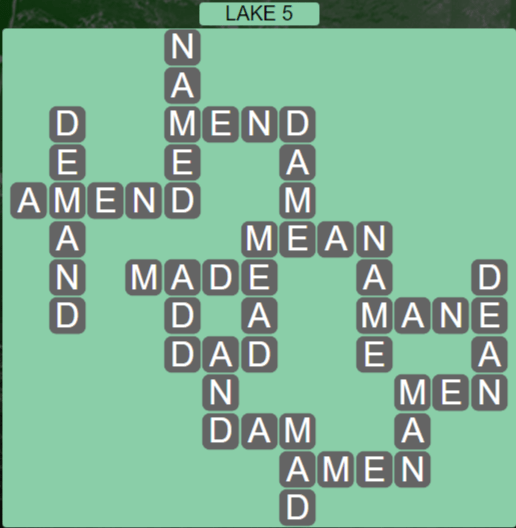 Wordscapes Air Lake 5 - Level 2597 Answers