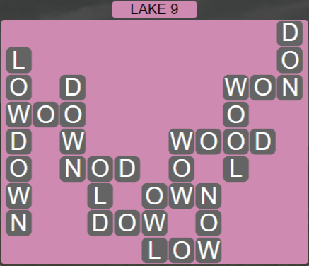 Wordscapes Air Lake 9 - Level 2601 Answers