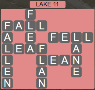 Wordscapes Air Lake 11 - Level 2603 Answers