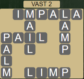 Wordscapes Air Vast 2 - Level 2610 Answers