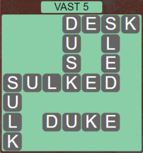 Wordscapes Air Vast 5 - Level 2613 Answers