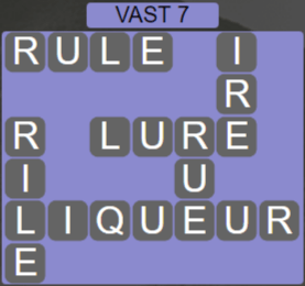 Wordscapes Air Vast 7 - Level 2615 Answers