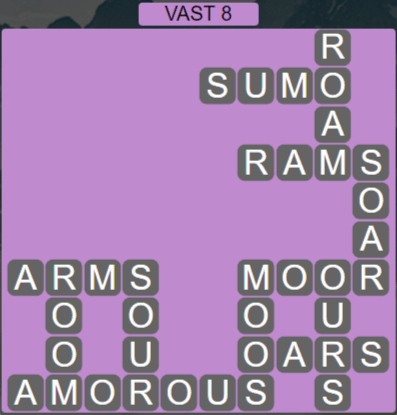 Wordscapes Air Vast 8 - Level 2616 Answers