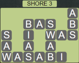 Wordscapes Air Shore 3 - Level 2627 Answers