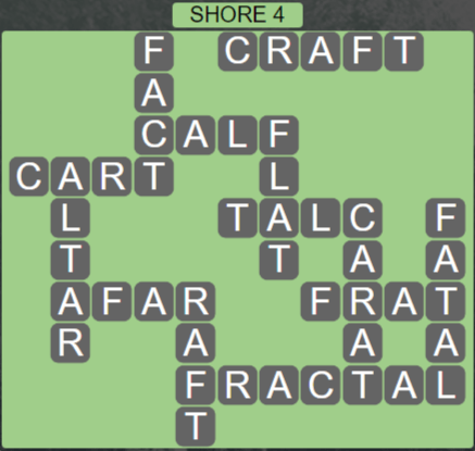 Wordscapes Air Shore 4 - Level 2628 Answers