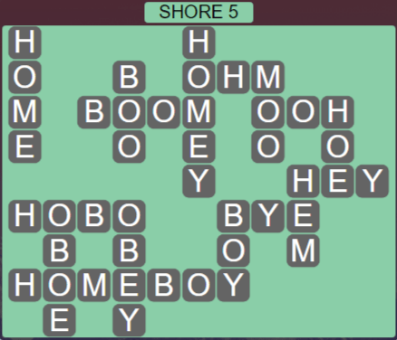 Wordscapes Air Shore 5 - Level 2629 Answers