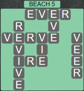 Wordscapes Lagoon Beach 5 - Level 2661 Answers