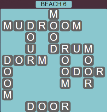 Wordscapes Lagoon Beach 6 - Level 2662 Answers