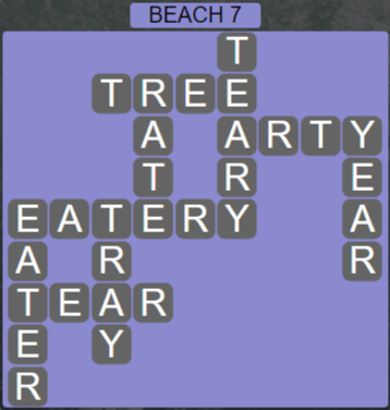Wordscapes Lagoon Beach 7 - Level 2663 Answers