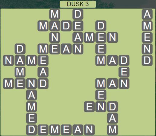 Wordscapes Lagoon Dusk 3 - Level 2707 Answers