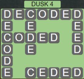 Wordscapes Lagoon Dusk 4 - Level 2708 Answers
