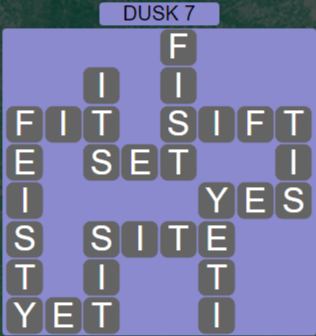 Wordscapes Lagoon Dusk 7 - Level 2711 Answers