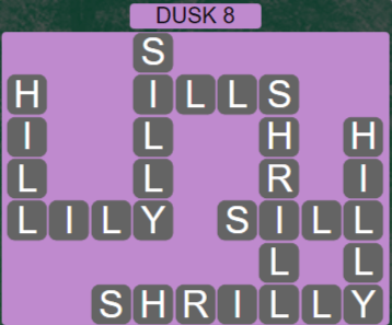 Wordscapes Lagoon Dusk 8 - Level 2712 Answers