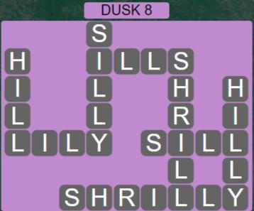 Wordscapes Lagoon Dusk 8 - Level 2712 Answers