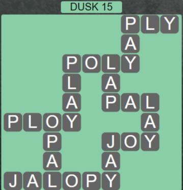 Wordscapes Lagoon Dusk 15 - Level 2719 Answers