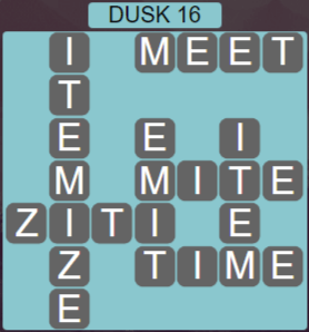 Wordscapes Lagoon Dusk 16 - Level 2720 Answers
