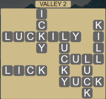 Wordscapes Peak Valley 2 - Level 2722 Answers