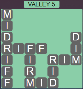 Wordscapes Peak Valley 5 - Level 2725 Answers