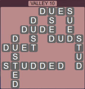 Wordscapes Peak Valley 10 - Level 2730 Answers
