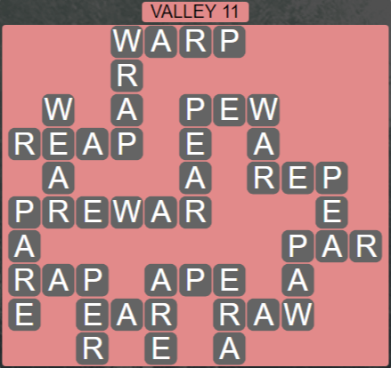Wordscapes Peak Valley 11 - Level 2731 Answers