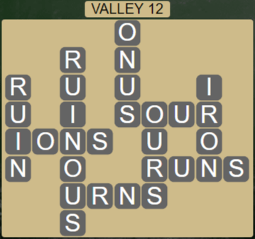 Wordscapes Peak Valley 12 - Level 2732 Answers