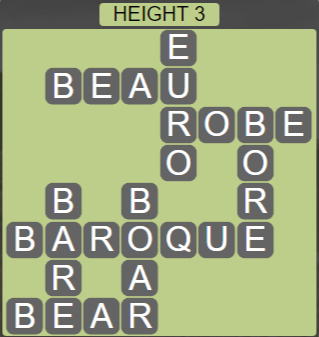 Wordscapes Peak Height 3 - Level 2755 Answers