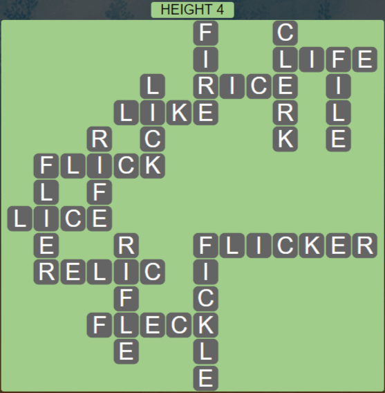 Wordscapes Peak Height 4 - Level 2756 Answers