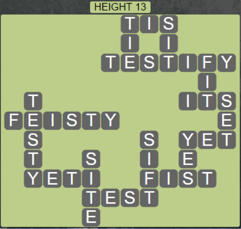 Wordscapes Peak Height 13 - Level 2765 Answers