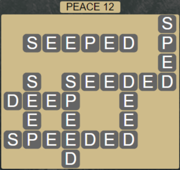 Wordscapes Peak Peace 12 - Level 2780 Answers
